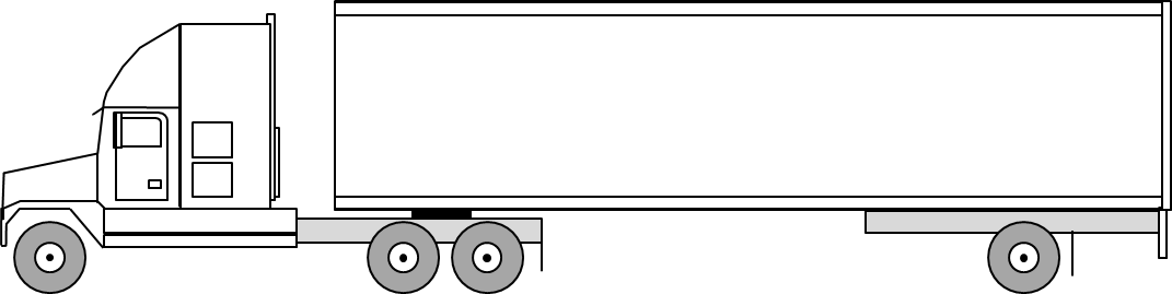 Drop Axle Weights For Tractor Trailers : Semi truck weight and dimensions axle trailer