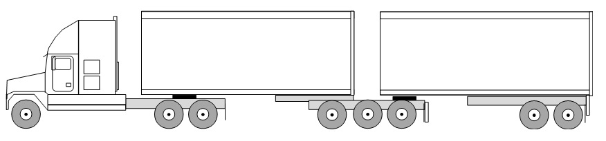 3 Axle Tractor Trailer Axle Weight Limits : B train truck weights axle