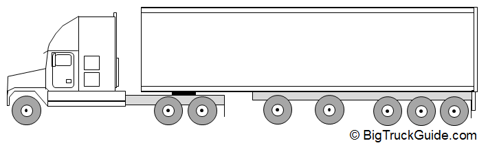 Vehicle Axle Weights : Semi truck axle trailer rear tridem big guide