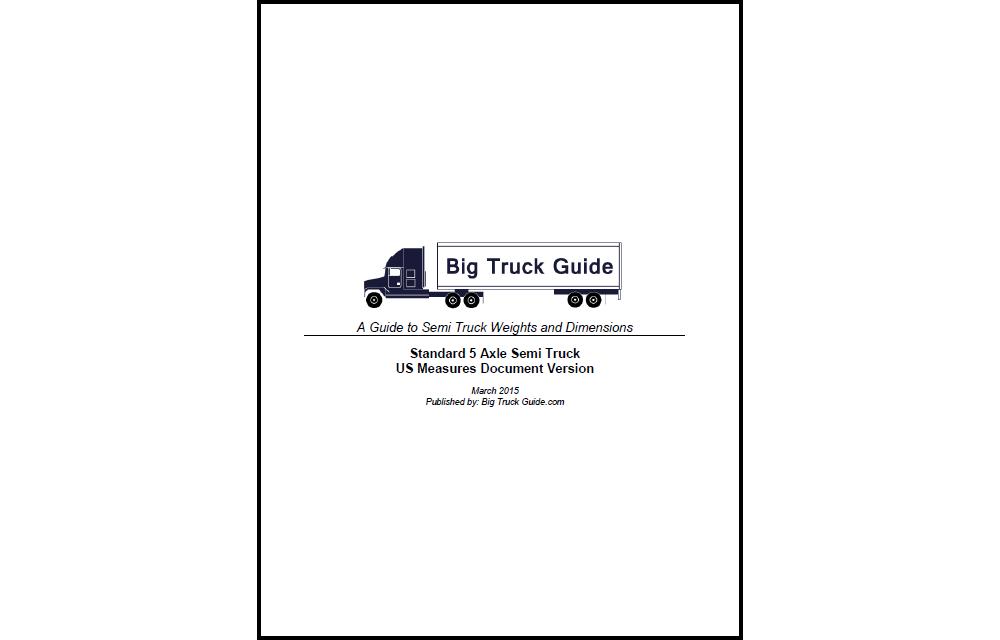 5 Axle Semi Truck PDF – $9.99