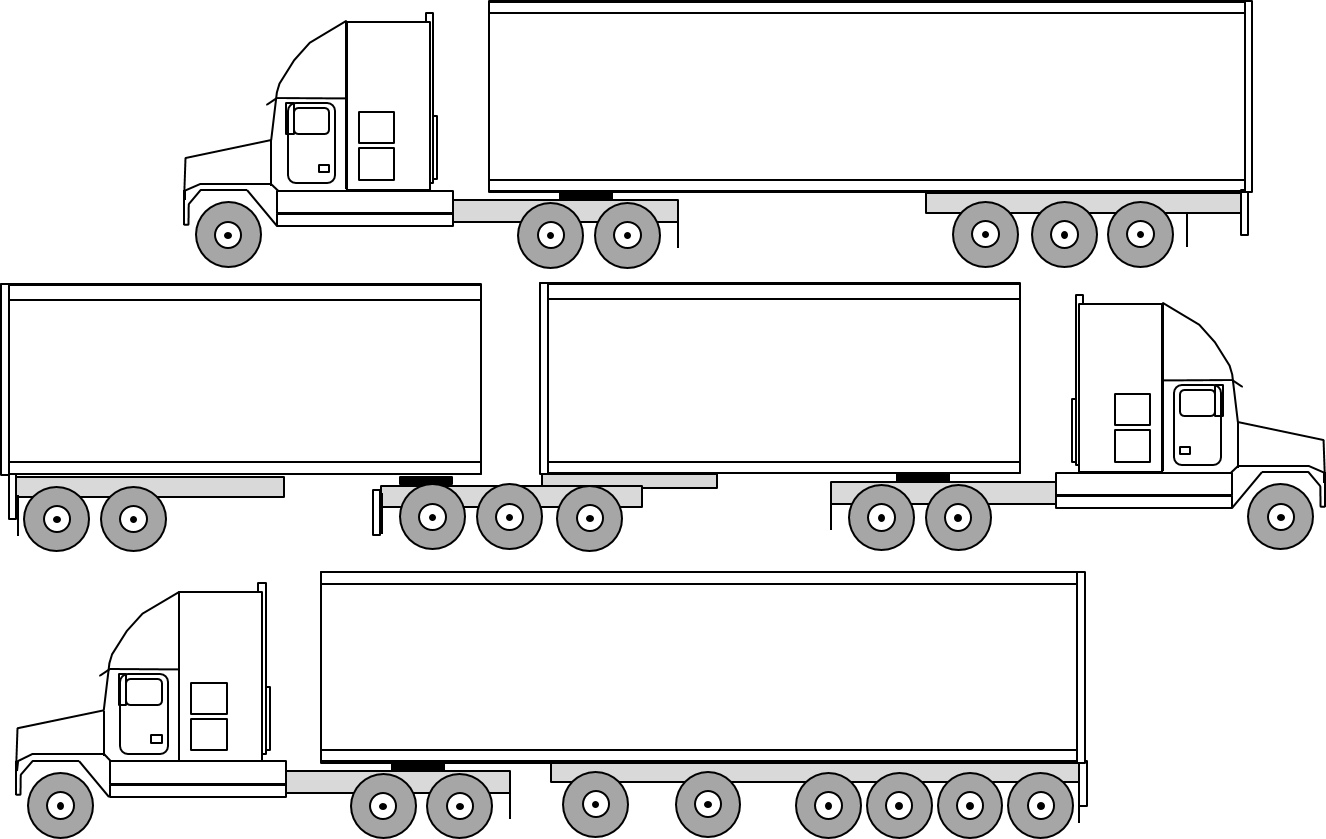 What Are The Dimensions Of A Semi Truck : Big truck guide a to semi weights and dimensions
